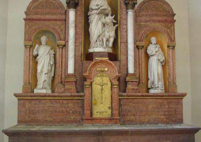 Rezi Római Katolikus Plébániatemplom főoltár restaurálása