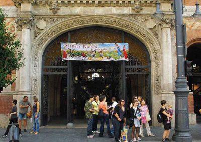 Budapest 1. sz. Vásárcsarnok főbejárati kapu restaurálása