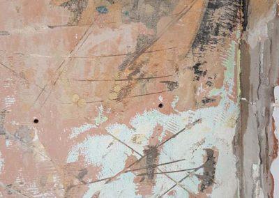 """Bp. Palatinus Strandfürdő színes """"hímeskő"""" terazzó kép restaurálása"""