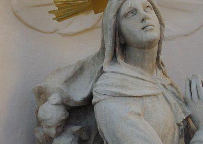 Celldömölk Bencés Barokk Kolostor homlokzati kőrestaurálási munkái
