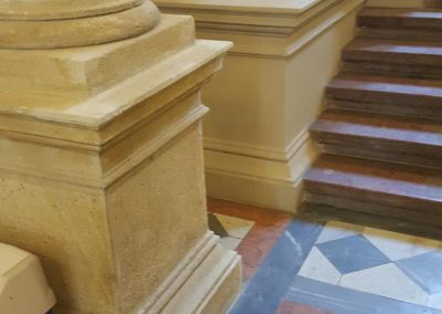 Bp. V., Ferenciek tere Egyetemi Könyvtár földszinti fogadóterének restaurálása