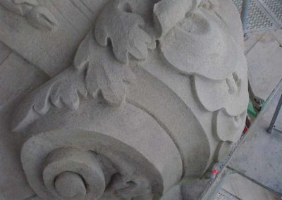 Budapest Margit híd pillérszobrai restaurálása