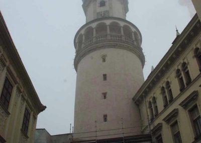 Sopron, Tűztorony külső kőrestaurátori munkák