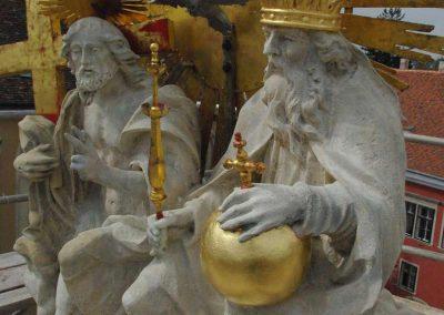 Sopron Főtér Szentháromság emlék restaurálása